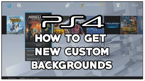 How To Change Ps4 Background Change Background Wallpaper Your Home Screen Wallpaper Home