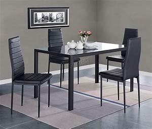 westwood verre salle a manger table avec 4 6 chaises set With meuble salle À manger avec chaises salle À manger simili cuir