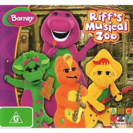 Hear an elephant trumpet and a lion roar as riff creates a 'musical zoo in the park filled with exotic animal sounds. Barney: Riff's Musical Zoo | DVD | BIG W