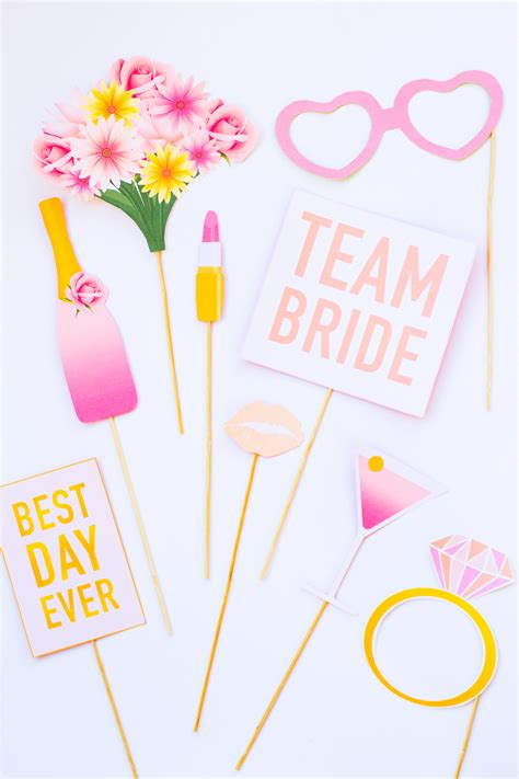 printable bridal shower photo booth props hen party