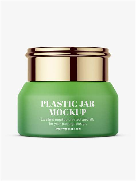 Cosmetics dispenser, bottle and jar mockup. Cosmetic jar with metallic cap mockup - Smarty Mockups