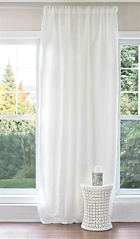 voilage blanc pur lin cie tissu en lin