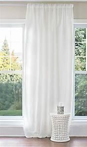 Rideau En Lin Blanc : voilage blanc pur lin cie tissu en lin ~ Melissatoandfro.com Idées de Décoration