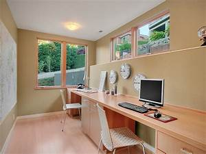 Basement home office design and decorating tips for Basement home office ideas 2