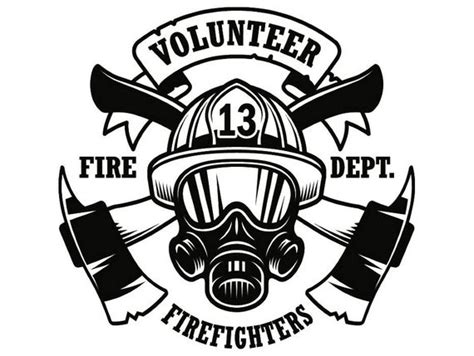 firefighter logo  firefighting rescue volunteer axe hydrant