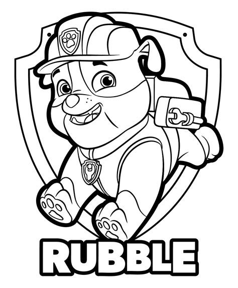 PAW Patrol Badges Coloring Pages GetColoringPages com