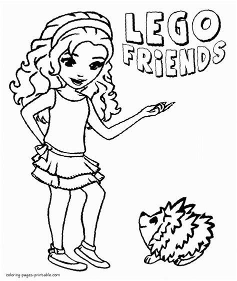 Kleurplaat Lego Friends by Lego Friends Coloring Sheets Coloring Pages Printable