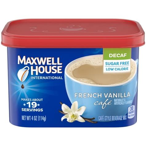 Top brands ranked (updated for 2021). Maxwell House International Caf French Vanilla Beverage Mix Sugar Free Decaf Instant Coffee ...