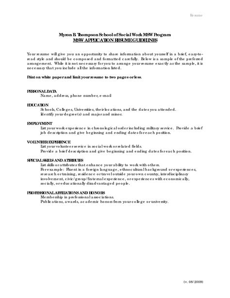 sle of social worker resume resume exles for resume exles and free