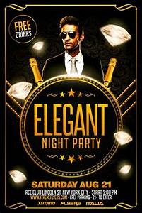 Free Elegant Party Flyer Template | Business Cards ...