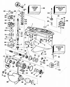 Johnson 1996 150 - J150eledb  Gearcase Std  Rotation