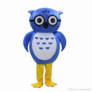 2018, Hot, Sale, New, Owl, Mascot, Costume, For, Adult, Large, Animal, Blue, Halloween, Pruim, Party, Event