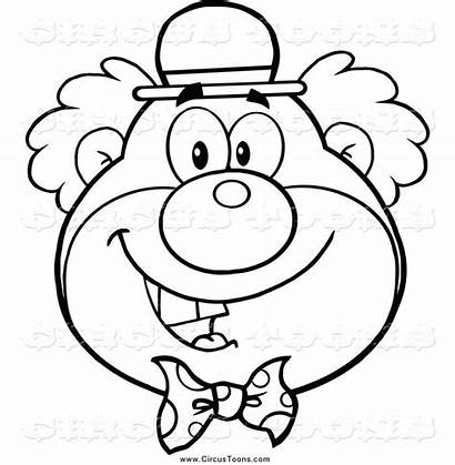 Clown Coloring Face Clipart Happy Pages Circus