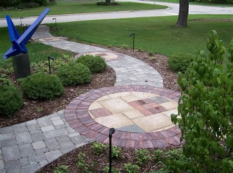 front walkway design paver walkway wheaton il photo gallery landscaping network