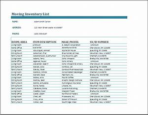 Clothing Inventory List Template Moving Inventory Form Charlotte Clergy Coalition