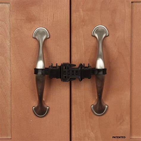Childproof Cabinet Locks No Screws by Awardpedia Kiscords Safety Cabinet Lock For Knobs 2 Pack