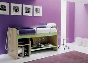 Wandgestaltung Schlafzimmer Lila : multifunktionales schlafzimmer gestalten f r kleine r ume angebracht ~ Markanthonyermac.com Haus und Dekorationen