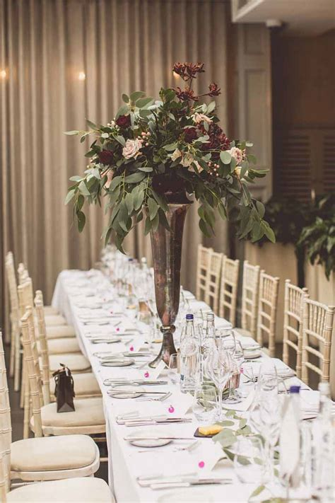 tall wedding centrepieces passion  flowers