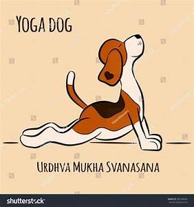 Cartoon Dog Shows Yoga Pose Urdhva Stock Vector 385786849 ...