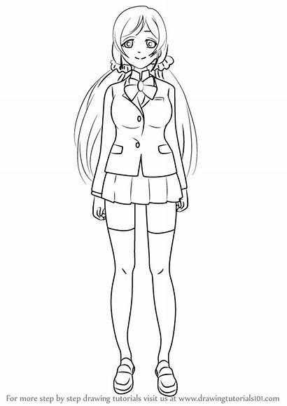 Draw Drawing Step Nozomi Toujou Anime Tutorials