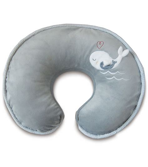 boppy travel pillow boppy pillow with luxe slipcover gray whales