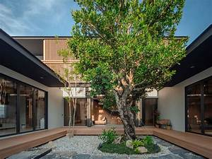 Peacefully, Zen, Modern, Home, In, Thailand, With, Courtyards, U0026, Pool