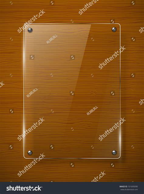 wooden texture glass framework vector illustration stock
