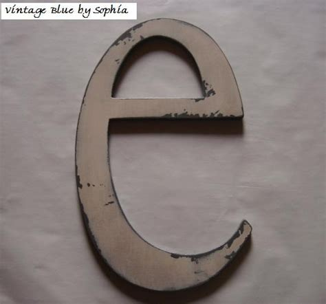 distressed wood letters distressed painted custom wooden letter e by