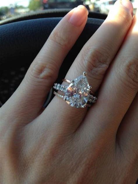 black engagment ring wedding pear shaped wedding ring