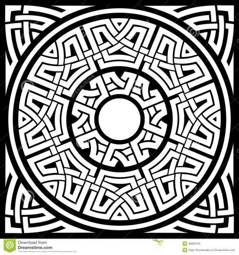 Circle celtic frame stock vector. Illustration of fancy ...
