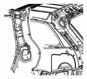 2015 Jeep Grand Cherokee Hose  Sunroof Drain  Rear  Right