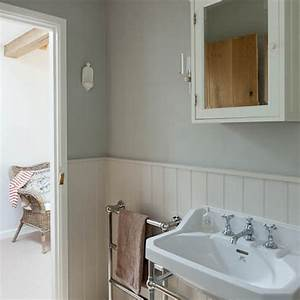 Bathroom step inside this arts and crafts inspired newly for Tongue and groove wall panelling for bathrooms