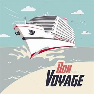 Cruise Ship Bon Voyage Illustration by StockIllustrator