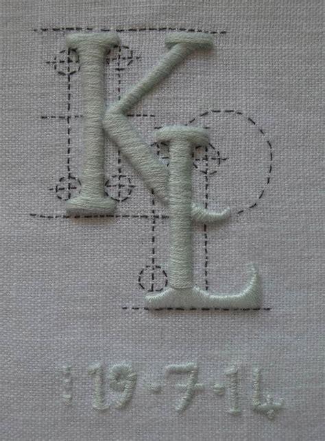 wedding monogram addison embroidery   vicarage