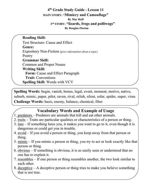 camouflage worksheets for 4th grade worksheet exle