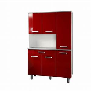 Meuble Haut Cuisine Pas Cher : meuble cuisine rouge pas cher meuble de cuisine cbel cuisines ~ Teatrodelosmanantiales.com Idées de Décoration