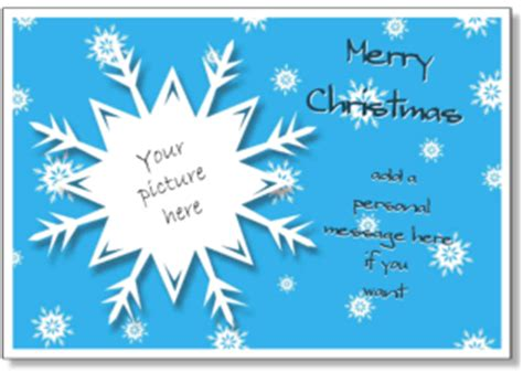 christmas card templates add   photo printable
