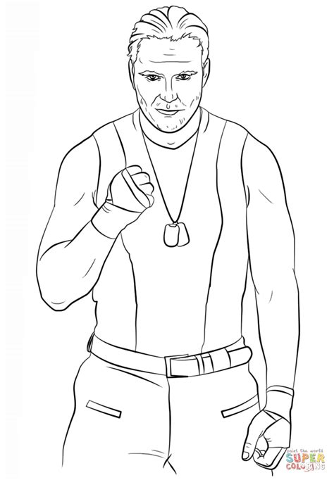 Dean Ambrose WWE Printable Coloring Pages