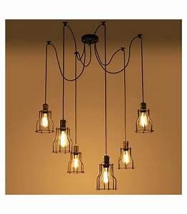 Suspension Style Industriel : suspension plafond style vintage industriel pour 6 ampoule filament edison ~ Teatrodelosmanantiales.com Idées de Décoration