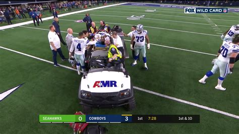allen hurns injury  seahawks cowboys dislocated ankle