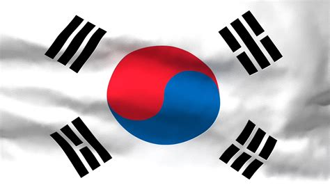 South Korean Flag Wallpaper Waving Flag Of South Korea Video Ezmediart It 39 S Easy