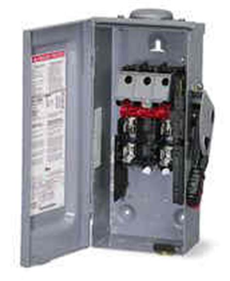 Intertherm Furnace Disconnect Fuse Box by Square D Safety Disconect Switches