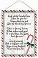 Candy Cane Jesus Poem Christmas Sign - Red/Green/White ...