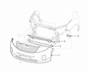 Kia Sorento  Front Bumper Components - Bumper