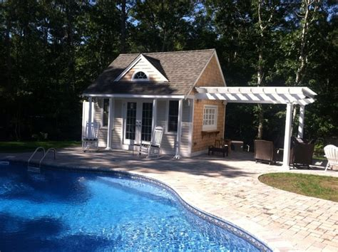 Small Pool House With Bathroom by Small Pool House Traditional Pool Other Metro By