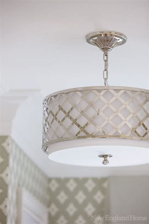a modern drum shade ceiling light there s no place like