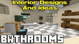minecraft bathroom designs