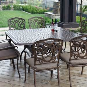 darlee florence 8 person cast aluminum patio dining set