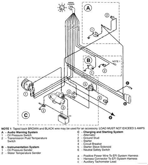 350 Engine Firing Diagram by Mercruiser 5 7l Efi Mie Gm 350 V 8 1997 Wiring Harness