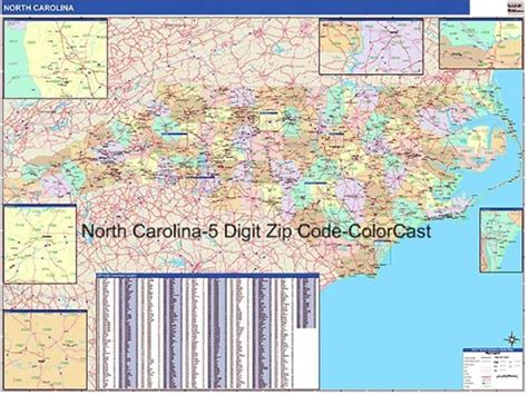 Zip Code Map Of North Carolina And Travel Information